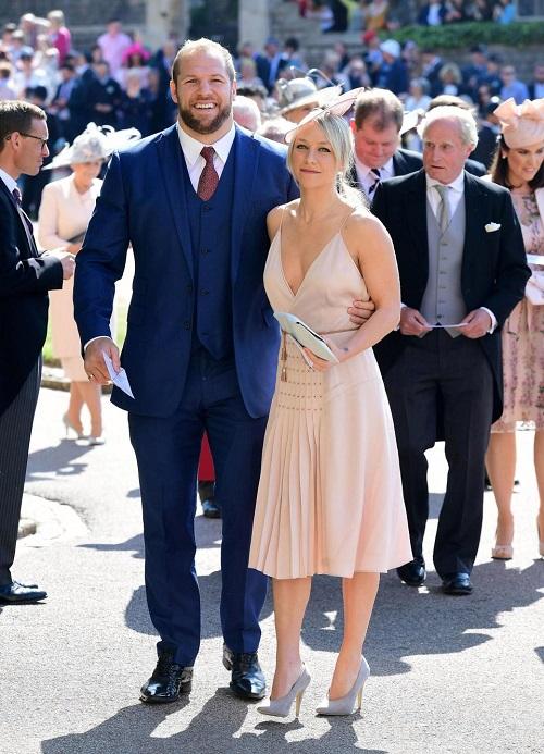 Chloe Madeley đến dự đám cưới hoàng gia cùng vị hôn phu, James Haskell - vận động viên bóng bầu dục.