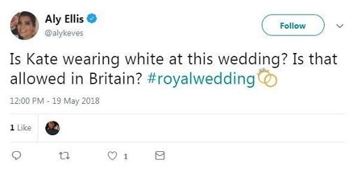 Có phải Kate mặc váy trắng đúng không nhỉ? Ở nước Anh điều này được cho phép ư?