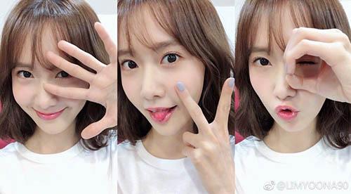 Yoon Ah làm biểu tượng 520, có ý nghĩa là I Love You theo tiếng Trung.