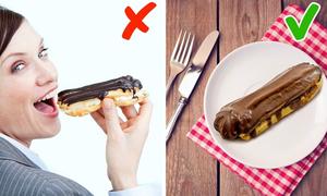 Món nào phải dùng dao dĩa, món nào có thể ăn bằng tay?