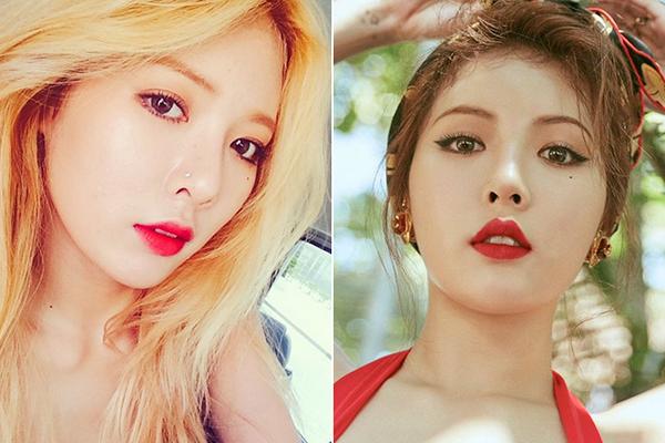 Nếu cũng để mày ngang như bao người, Hyun Ah khó để lại nhiều ấn tượng. Thay vào đó, hàng mày cong mảnh đậm chất retro rất phù hợp với phong cách sexy cổ điển mà cô nàng theo đuổi.