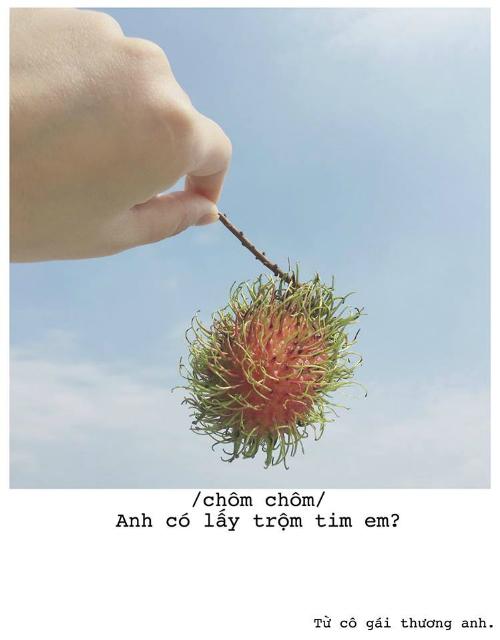 Bộ ảnh thả thính bằng trái cây cực yêu của 9X Sài thành