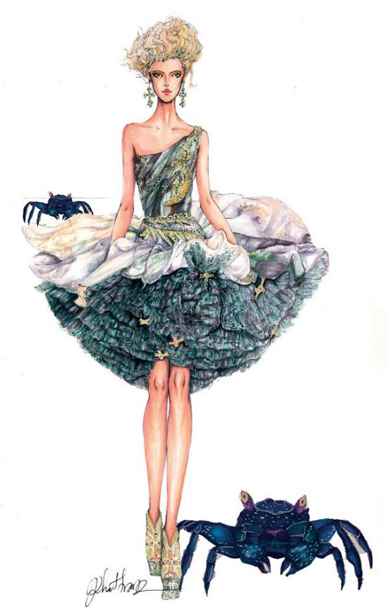 12 chòm sao biến thành nàng thơ thời trang dưới nét vẽ của họa sĩ Việt - 3