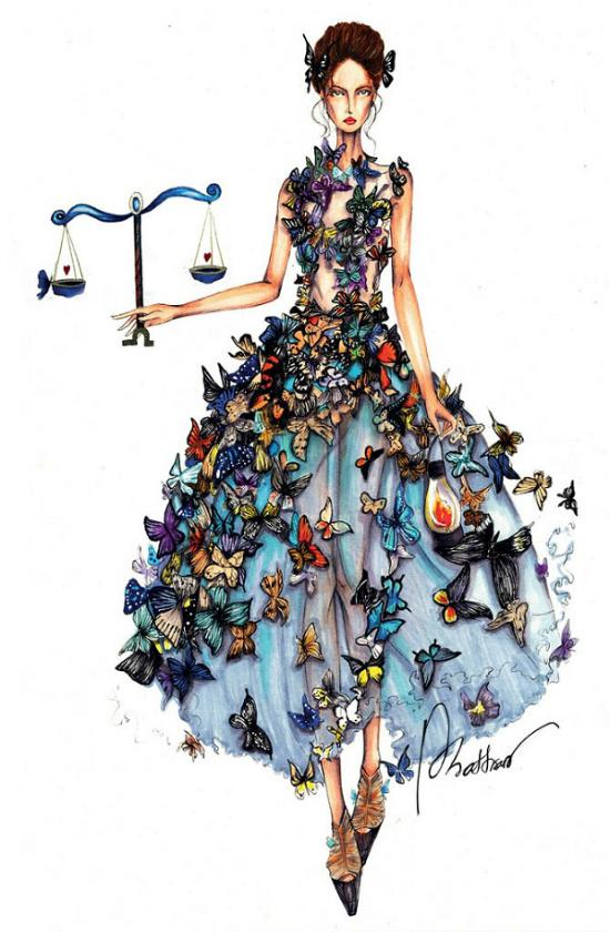 12 chòm sao biến thành nàng thơ thời trang dưới nét vẽ của họa sĩ Việt - 6