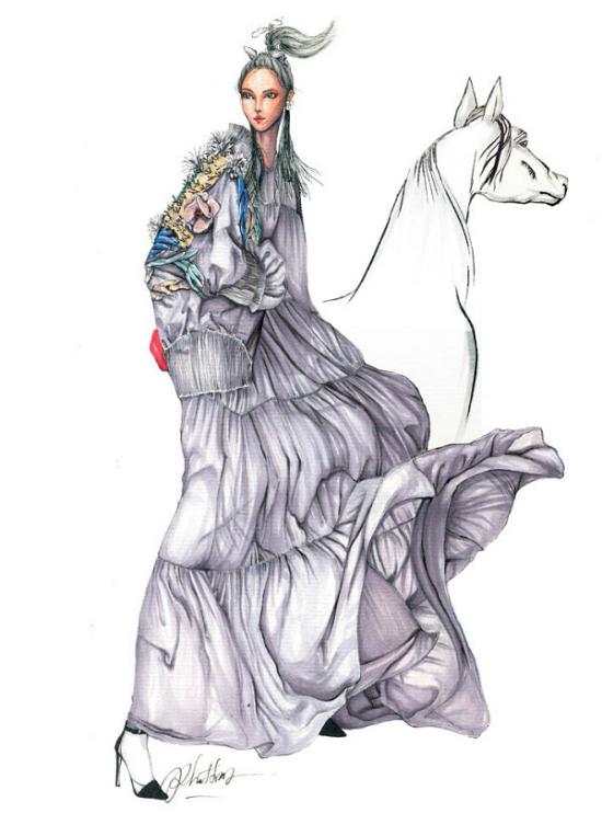 12 chòm sao biến thành nàng thơ thời trang dưới nét vẽ của họa sĩ Việt - 8