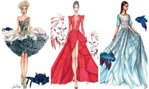 12 chòm sao biến thành 'nàng thơ thời trang' dưới nét vẽ của họa sĩ Việt