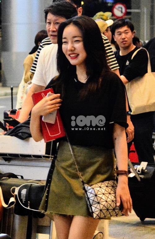 Nữ diễn viên Moon Ji-In.