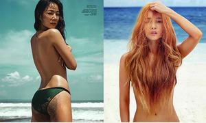 Hội 'gái ngoan - gái hư' Hàn Quốc đọ dáng khi chụp ảnh ngực trần