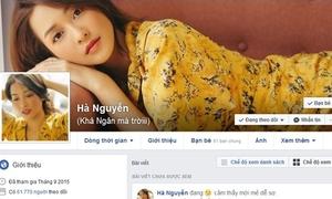 Khả Ngân lấy lại được Facebook nhưng bị hacker đổi tên lạ