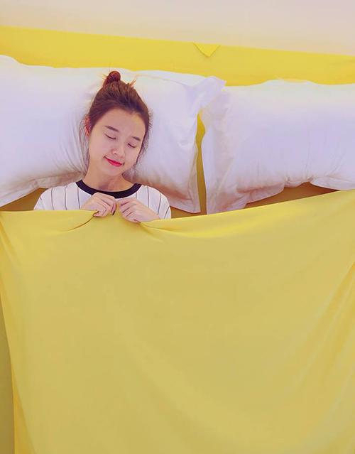 Midu đáng yêu hết cỡ ngay cả khi đi ngủ.
