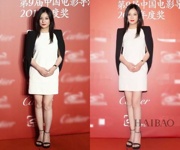 Trong một sự kiện vào tháng 3, Triệu Vy cũng từng phải nhờ đến photoshop để có ngoại hình ấn tượng hơn. Đôi chân của én nhỏ được chỉnh sửa trông thon dài, mịn màng hơn đáng kể.