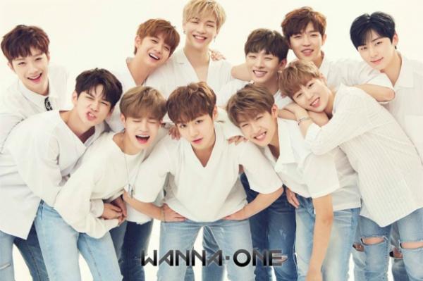 Nhóm nhạc mỹ nam xứ Kpop Wanna One .