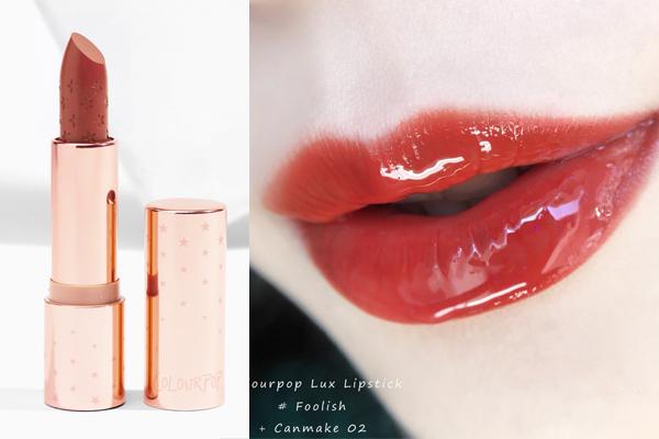 Màu Foolish của ColourPop Lux Lipstick hơi thiên nâu, tuy nhiên vì thế mà cũng phù hợp với làn da vàng của con gái châu Á. Cây son này lì mịn hoàn toàn, khi thoa lên môi rất dễ dàng, tuy nhiên độ bám không quá cao. Nếu muốn tạo hiệu ứng môi căng như quả cà chua, bạn có thể bổ sung thêm một lớp son bóng.