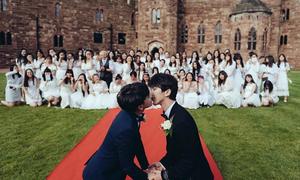 Cặp đồng tính hot nhất Trung Quốc làm đám cưới lãng mạn
