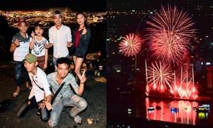 Giới trẻ Đà Nẵng kéo nhau lên núi cắm trại ngắm pháo hoa giữa đêm