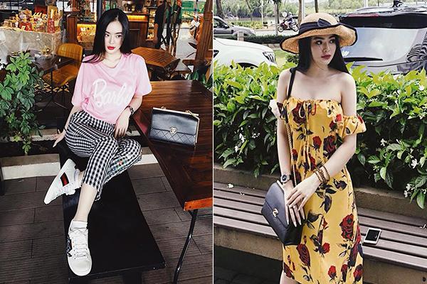 Không tham gia hoạt động giải trí như chị, Phương Trang tập trung việc kinh doanh mỹ phẩm. Công việc này cũng mang đến cho cô nàng khoản thu nhập tốt, thỏa mãn sở thích mua sắm hàng hiệu.