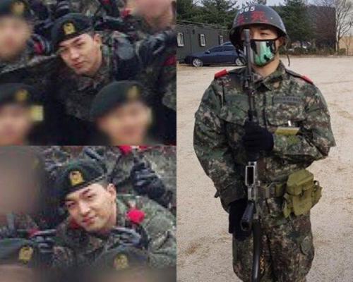 Hình ảnh nam tính, rắn rỏi của nam ca sĩ trong quân đội.