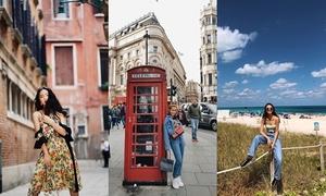 Bộ ba hot girl 'đi nước ngoài như đi chợ'