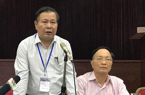 Ông Lê Ngọc Quang chia sẻ thông tin tại buổi họp báo trưa 7/6.