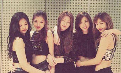 Mi Yeon (đứng giữa) từng suýt gia nhập Black Pink.
