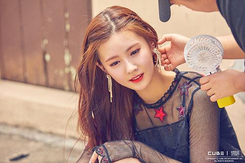 Nhan sắc của Mi Yeon cũng rất đáng gờm.