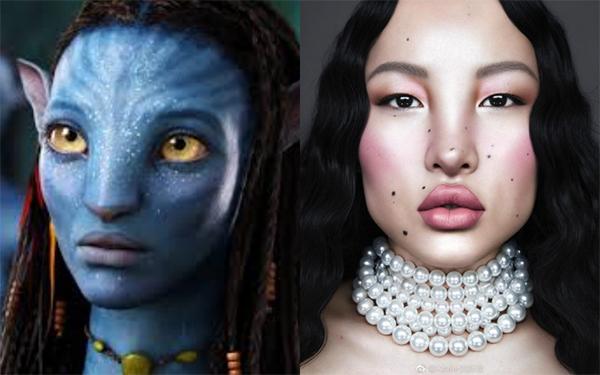 Nhiều người nhận xét Tsunaina có khuôn mặt kỳ lạ như được vẽ, thiếu tính thực tế, thậm chí còn bị so sánh với nhân vật trong phim Avatar.