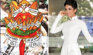 H'Hen Niê có thể mặc quốc phục đính bánh mì thi Miss Universe
