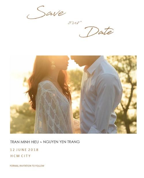 Tấm thiệp cưới được cho của ca sĩ Yến Trang do bạn bè chia sẻ gây xôn xao.