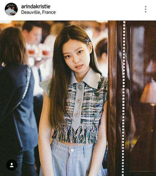 Vẻ đẹp cá tính, sang trọng của Jennie được báo chí nước ngoài yêu thích. Cô nàng xuất hiện trên nhiều tài khoản Instagram về thời trang.
