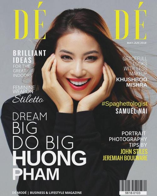 Phạm Hương trên bìa tạp chí nổi tiếng.