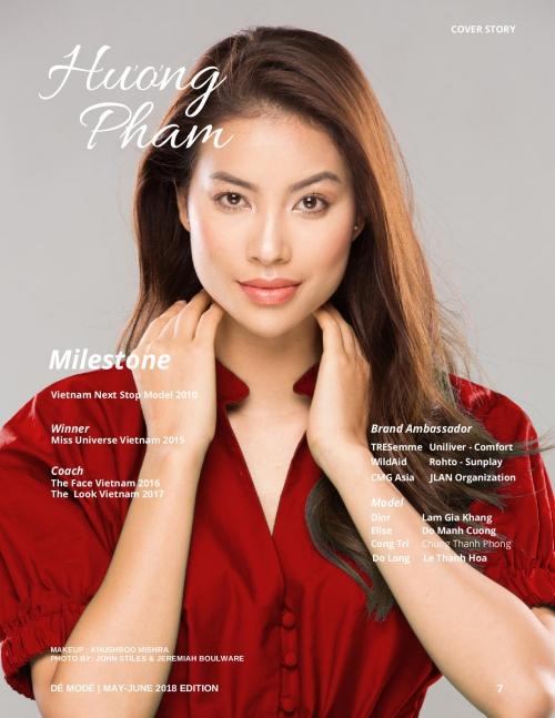 Phạm Hương rạng rỡ trên bìa tạp chí nước ngoài - 2
