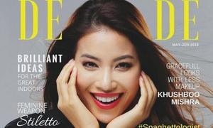 Phạm Hương rạng rỡ trên bìa tạp chí nước ngoài
