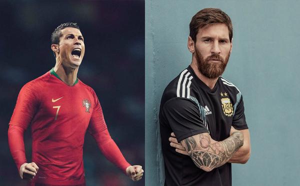 Nike có C.Ronaldo còn Messi thuộc về Adidas.