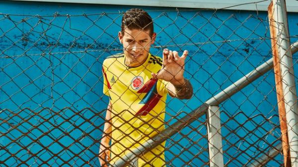 Trang phục đậm chất vintage của tuyển Colombia,trang phục do Nike thiết kế