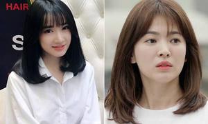 Nhã Phương xinh không kém khi cắt tóc giống Song Hye Kyo