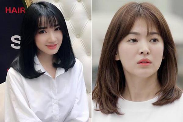 Điểm khác biệt duy nhất là Nhã Phương vẫn để tóc đen tuyền, còn bác sĩ Kang trong phim có màu tóc hạt dẻ hợp mốt. Nhiều ý kiến nhận xét kiểu tóc ngang vai này rất phù hợp với gương mặt tròn bầu bĩnh của Nhã Phương. Khi để chung kiểu tóc, hai nữ diễn viên Hàn - Việt trông càng có nhiều nét tương đồng.