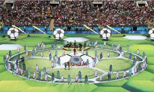 Những khoảnh khắc ấn tượng trong lễ khai mạc World Cup 2018
