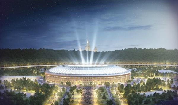 Sân vậng động Luzhniki nơi diễn ra đêm khai mạc và đêm kết thúc World Cup.