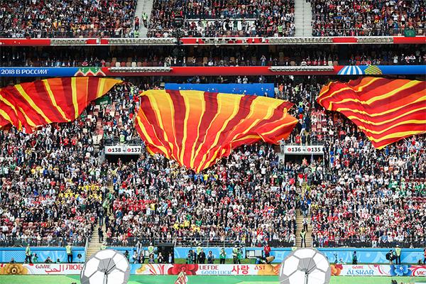 80.000 chỗ ngồi trên SVĐ Luzhniki được lấp đầy không còn một khoảng trống.