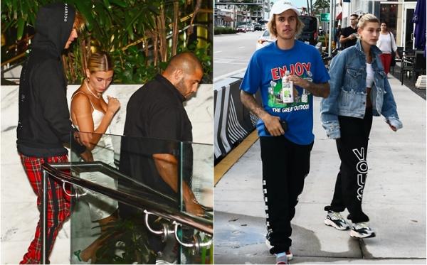 Justin và Hailey liên tục bị cánh săn ảnh bắt gặp khi đang hẹn hò ở Miami.