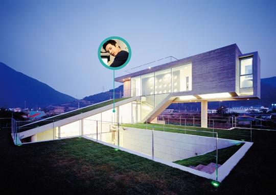 Căn nhà mái cỏ tự nhiên được thiết kế độc đáo của Won Bin.