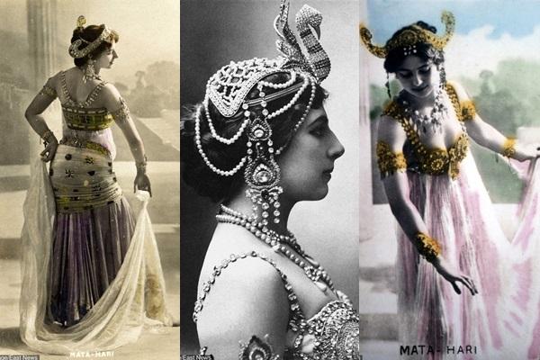 Nữ điệp viên nổi tiếng người Hà Lan, Mata Hari quyến rũ trong trang phục múa.