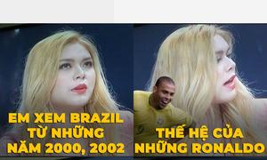 Hot girl gây cười vì 'đưa Pele về cùng thời với Ronaldo và Ronaldinho'