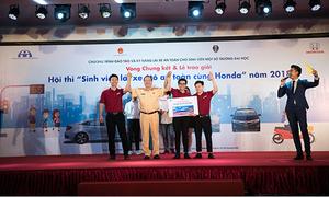 Sinh viên Bách khoa Hà Nội đạt giải nhất cuộc thi ATGT