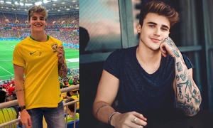 Đi xem World Cup, trai đẹp Brazil được fan 'truy tìm'