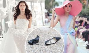 Rơi giày như Lọ Lem - sự cố catwalk 'cơm bữa' của mẫu Việt