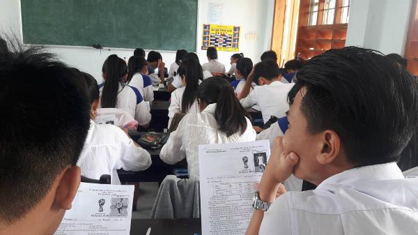 Học sinh tỏ ra thích thú với đề thi đặc biệt này.