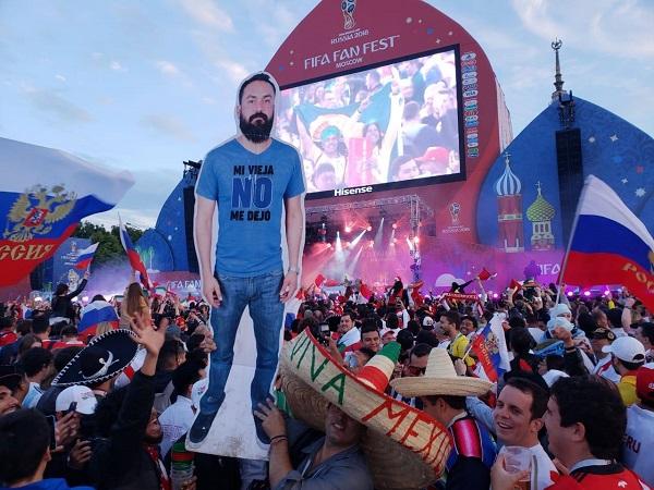 Hình nộm Javier khỏi bỏ sót cuộc vui nào trên đất Nga