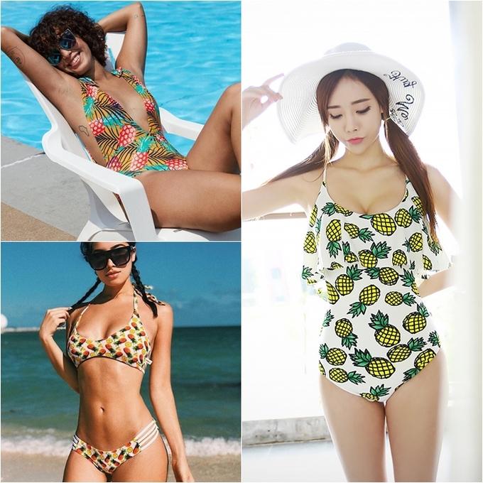 <p> Bikini, bodysuit trái dứa ngập tràn các bãi biển. Gam màu vàng nổi bật mang lại vẻ tươi mát, rực rỡ cho các nàng.</p>