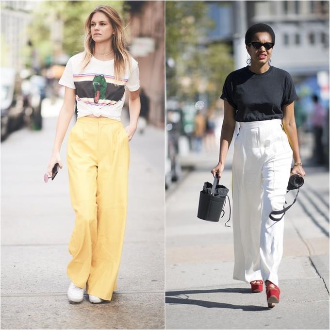 <p> Combo quần vải suông cạp cao + áo phông vừa đẹp vừa cá tính. Chất vải của quần âu bao giờ cũng mềm mại tạo cảm giác thoải mái tối đa khi diện.</p>